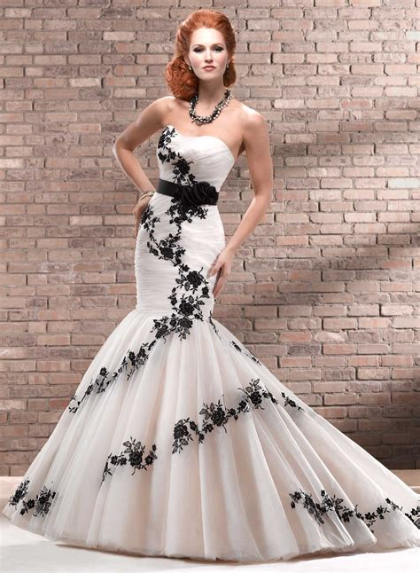 Black And White Wedding Dresses by Black Wedding Dresses Dressed Up