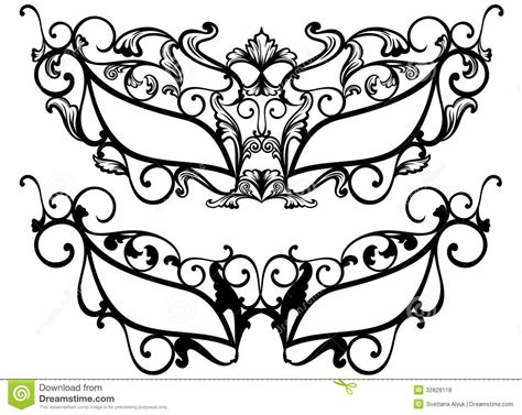 masquerade template masquerade masks vector royalty free stock photos image