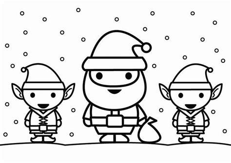 imagenes de santa claus en dibujo dibujo para colorear santa claus con elfos img 26444