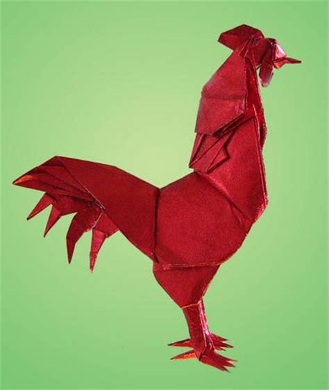 Easy Impressive Origami - rooster