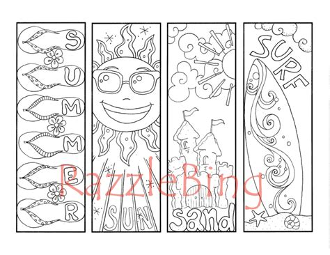 printable doodle bookmarks diy bookmark printable coloring page zentangle inspired
