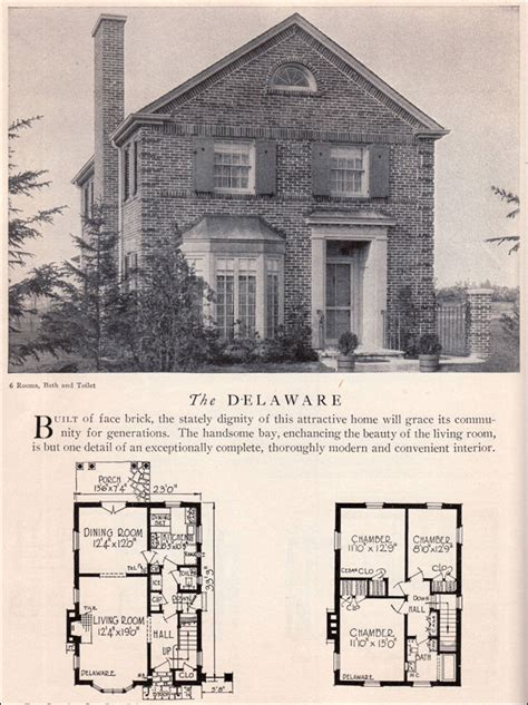 Georgian Floor Plan Classical Revival House Plan 1929 Home Builders Catalog