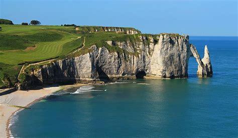etretat cliffs  france adventure  ready