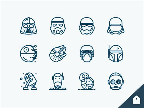 star wars icons freebie freebbble