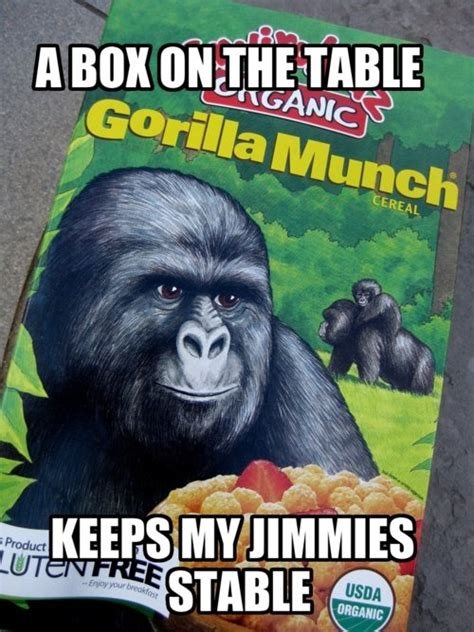 Gorilla Munch Meme - image 290432 that really rustled my jimmies know