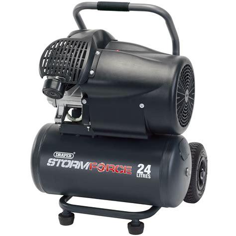Garage Air Compressor Draper 24l 230v 2 2kw 3hp Workshop Garage Air Compressor