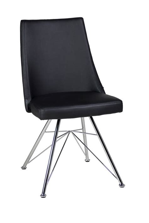 Faux Leather Dining Chairs In Black Or White Homegenies Black And White Leather Dining Chairs