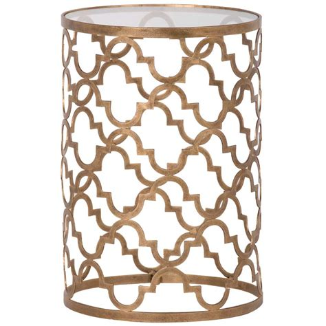 Quatrefoil Side Table Quatrefoil Gold And Glass Side Table Bedroom Company