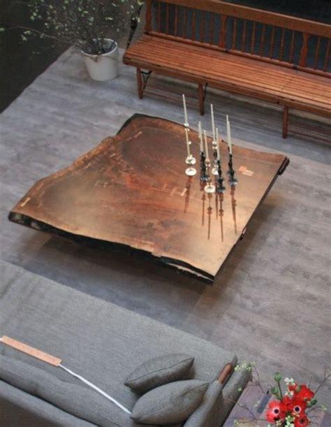 walnut slab coffee table yum ikea decora
