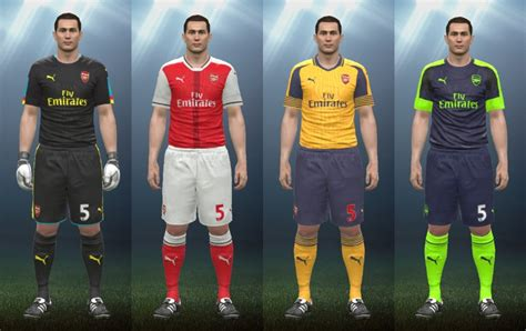 arsenal pes 2018 arsenal fc kit pes 2017 lera sweater