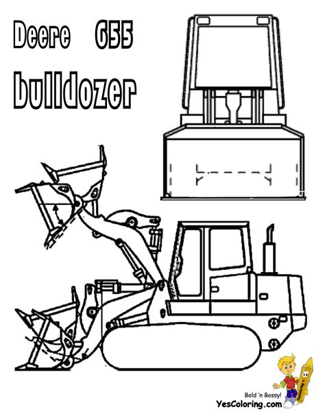 free coloring pages of an excavator