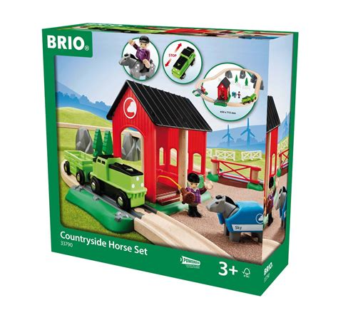brio a brio countryside horse set raindrops and sunshine