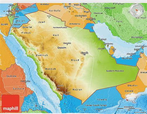 political map of saudi arabia physical 3d map of saudi arabia political shades outside