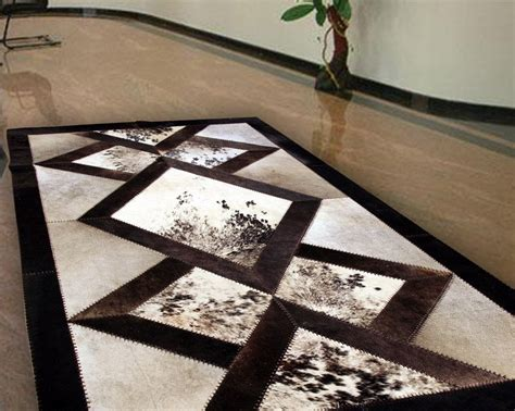 Patchwork Cowhide Leather Rugs - patchwork cowhide leather rugs rugs ideas