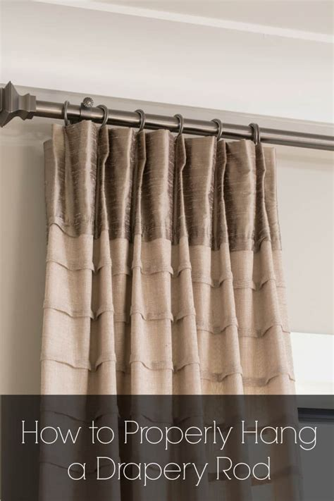 how to hang curtains properly how to properly hang a rod for custom drapes drapery street