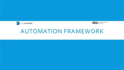 basics of automation framework
