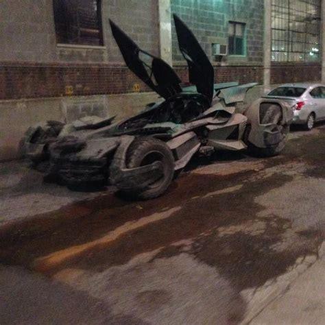 Batmobile Batman V Superman batmobile from batman v superman of justice image via instagram user amacro13