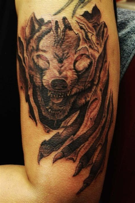 lone wolf tattoo wolf 3d tattoodesign