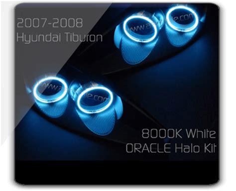 Hyundai Tiburon Halo Headlights by Custom Led Door Projector Courtesy Puddle Logo Lights