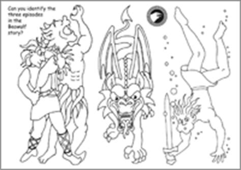 Beo Wolf Colouring Pages Beowulf Coloring Pages