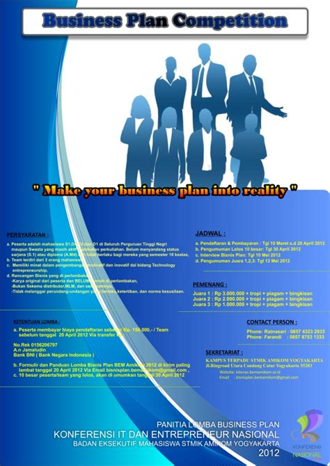format penilaian lomba business plan business plan competition di amikom xenology and history