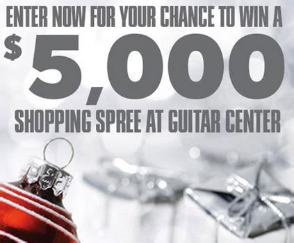 Guitar Center Giveaway 2017 - win a 5 000 guitar center shopping spree granny s giveaways