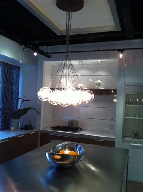 Blown Glass Pendant Lighting For Kitchen Kadur Custom Blown Glass Chandelier Modern Custom Glass Light Kitchen Modern Kitchen