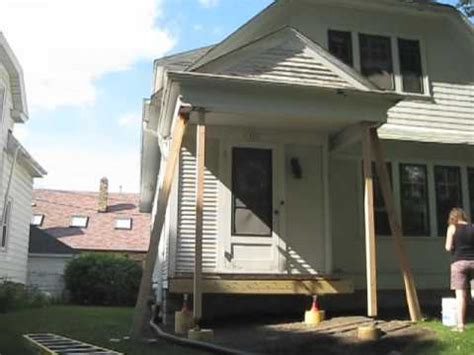 how to fix a sinking front porch lifting porch roof