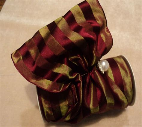 5 quot wide french satin taffeta stripe wired ribbon
