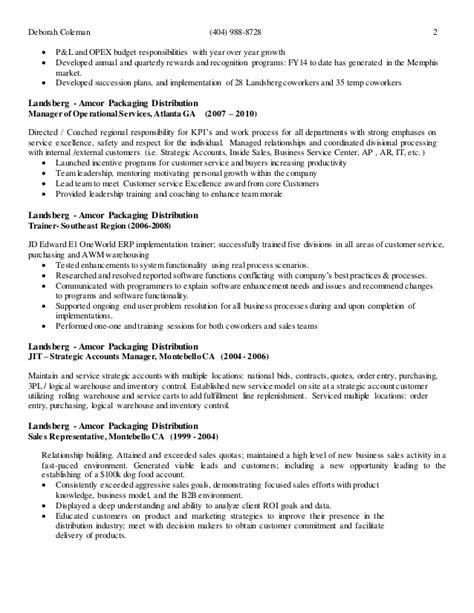 deborah coleman 2015 resume
