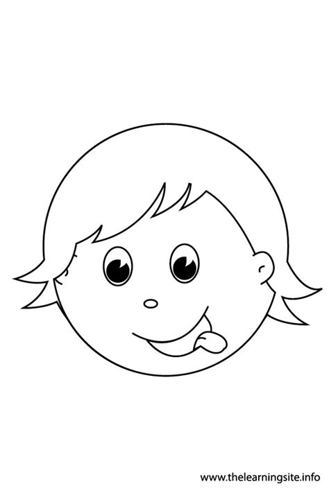 hungry boy coloring page click here for more feelings flashcards