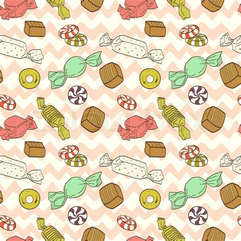 cute seamless pattern made of colorful hand drawn doodle