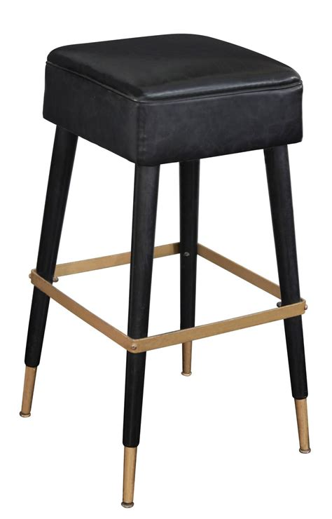 Chic Bar Stools by Set Of Four Chic Bar Stools With Brass Sabots And