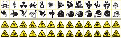 International Hair Emergency by Ansi Z535 Safety Symbols Safetysign