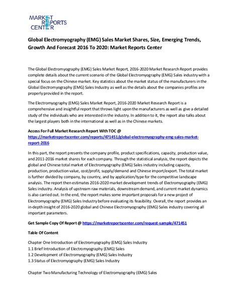 emg report sle global electromyography emg sales market