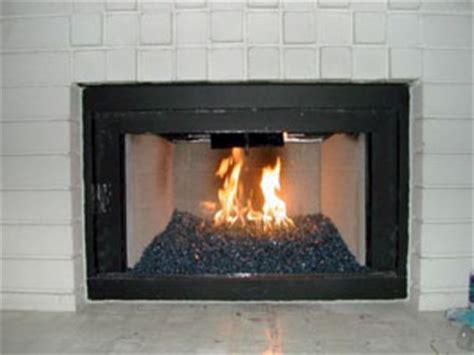glass fireplace conversion a rich brilliant blue fireplace glass ford blue reflective fireglass
