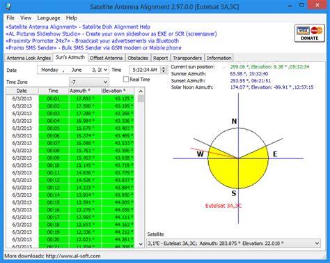 satellite antenna alignment