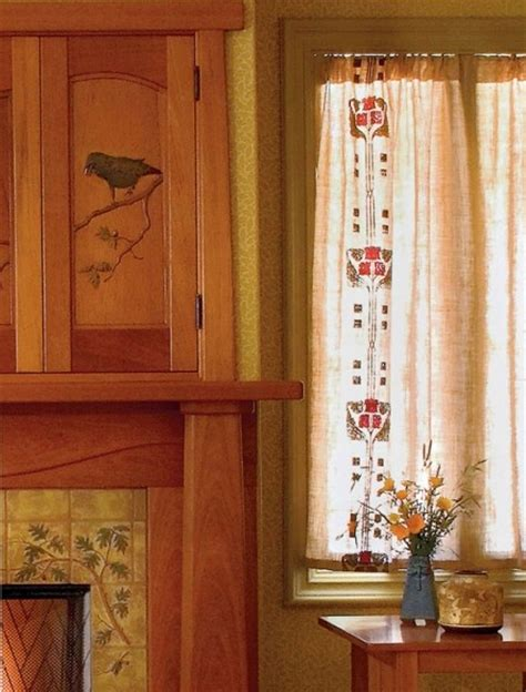 craftsman style curtains arts and crafts style curtains arts and crafts pinterest