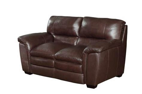 brown leather loveseats coaster burton 503972 brown leather loveseat steal a