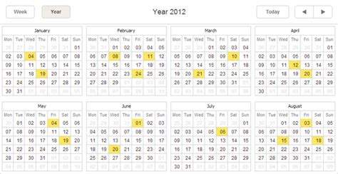 Kalender Jahresansicht How To Show Tool Tip On Appointment Hover Javascript