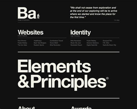 typography for the web screenshot