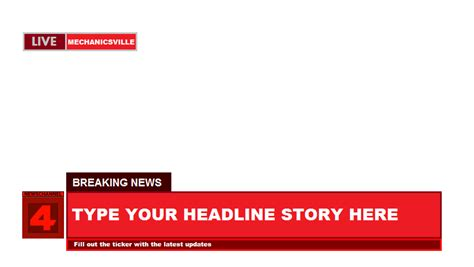 cnn news template newschannel four breaking news template by terryrule17