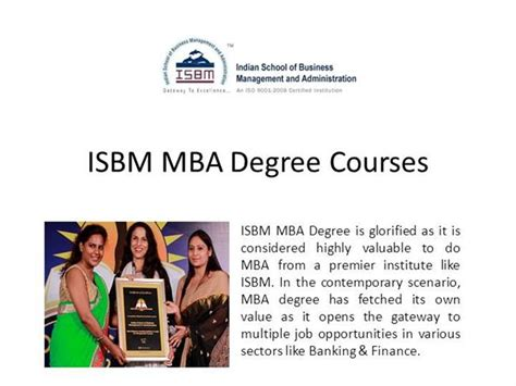 Mba Subjects In Mumbai by Mba Degree From Isbm Mumbai Authorstream