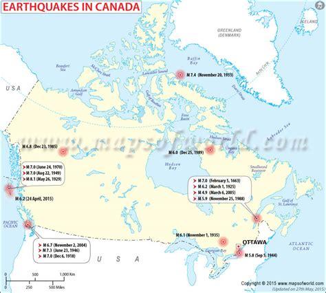earthquake canada earthquakes in canada