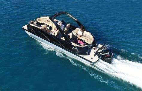 how fast does a 50 hp pontoon boat go indulge the need for speed yes fast pontoon boats exist