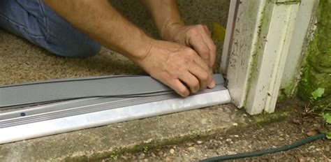 Sealing Exterior Door Threshold How To Replace An Entry Door Threshold Today S Homeowner