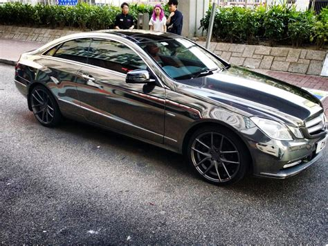 mercedes chrome black chrome mercedes e coupe