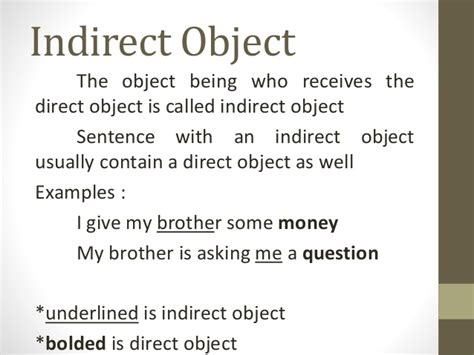 sentence pattern direct object types and functions of noun