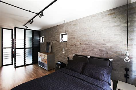 Bedroom Wallpaper Singapore 4 Industrial Style Hdb Homes That Character And Style