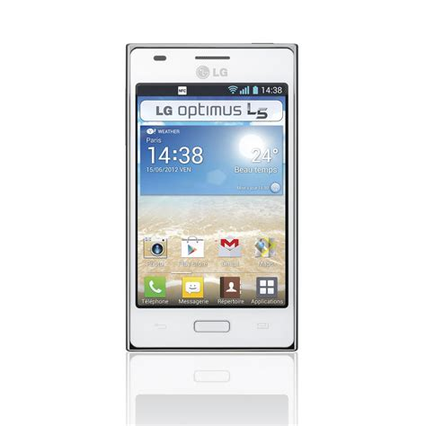 lg l5 mobile lg optimus l5 blanc lge610 afrawh achat vente
